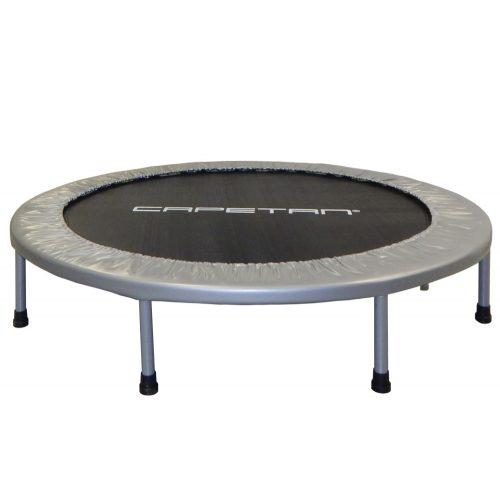 Capetan® Fit Fly Silver 122 cm Zimmertrampolin – 100 kg Belastbarkeit, Federabdeckung von Premiumkategorie