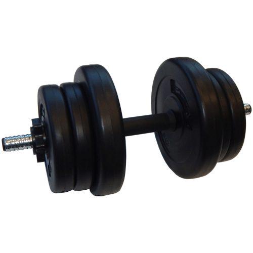 Capetan® Sport 10 kg erweiterbares Einhandhantelset mit Vinylscheiben, mit 1 Stck. Stange von 25 mm Durchm. – Zementhantel – Plastikhantel