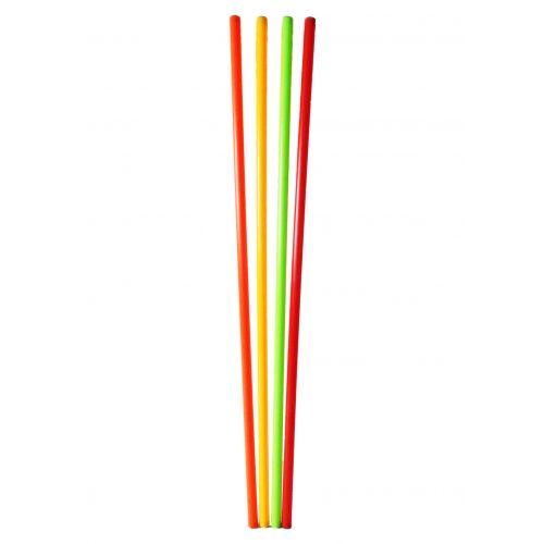 Capetan® 120 cm lange Balancierstange, 4-er Set, mit gelber, grüner, orangener und roter Farbe