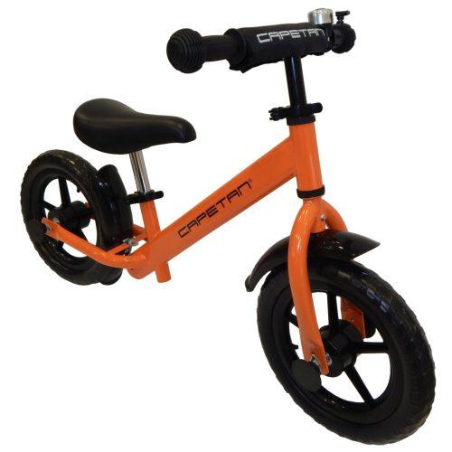 """Capetan® Energy Plus Orangenfarbiges Laufrad mit 12"""" Rädern, Schutzblech und Klingel – Kinderfahrrad ohne Pedal"""
