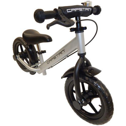 """Capetan® Neptun Silberfarbenes mit Bremse versehenes Laufrad mit 12"""" Rädern mit Schutzblech und Klingel – Kinderfahrrad ohne Pedal"""