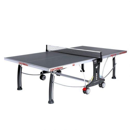 Cornilleau Sport 300 S Outdoor Tischtennisplatte für Außenraum, grau, mit Höhenverstellung in den Standfüssen
