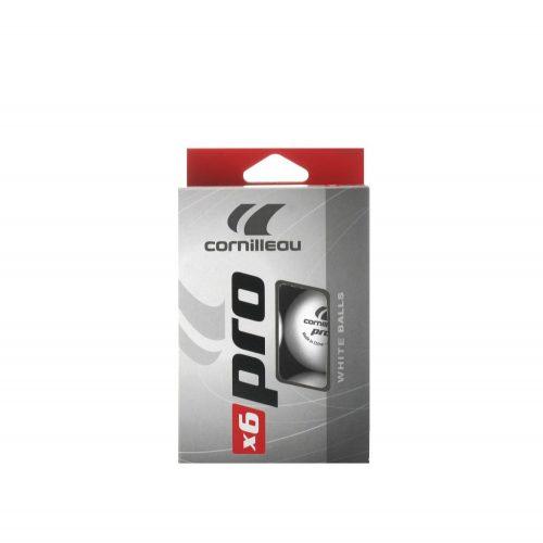 Cornilleau Tischtennisball Pro White 6er Pack, weiß