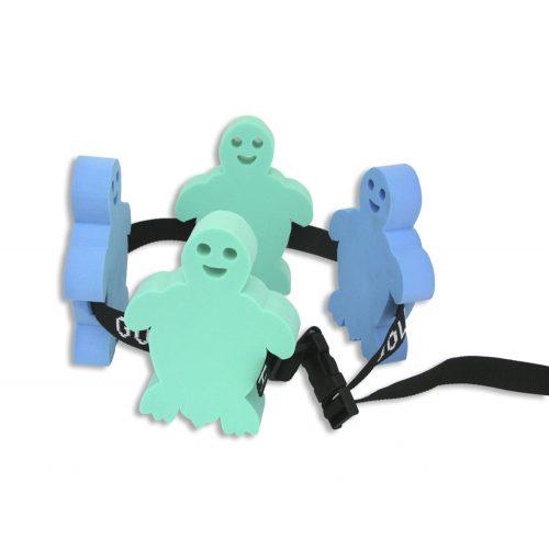 Schwimmgürtel mit 4 Figurschwimmern für Kinder, Schildkrötchen-Form – unter 12 Jahren, bei 30-60 kg Körpergewicht empfohlen
