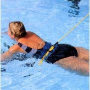 Schwimmtrainingsgürtel – um die Hüfte zu schnallender Gurt mit 10 m langem, 1 cm Durchmesser Zugseil aus Gummi