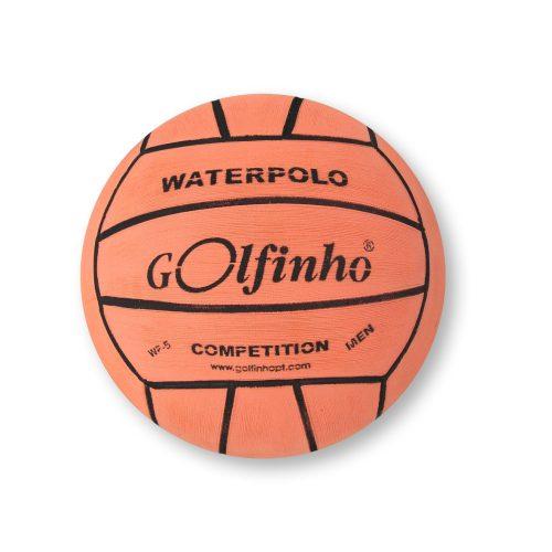 Wasserball Golfinho Competition Fluo – fluoreszierende orangene Farbe; No. 5 Turnierwasserball für Männer