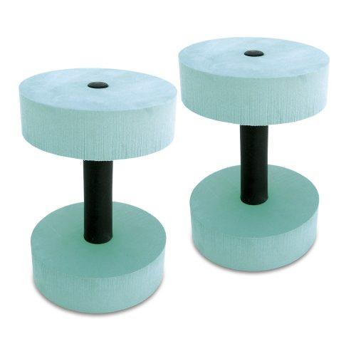Aquahantelpaar mit runden Scheiben – Wasserhanteln mit 15 cm Durchmesser