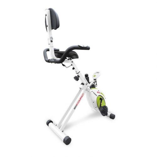 Toorx Fitness BRX R Compact zusammenklappbarer Liegefahrradtrainer mit Rückenlehne