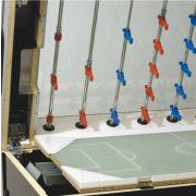 Garlando Olympic Silver Münzprüfer-Fußballtisch mit durchgehenden Stangen