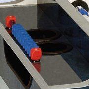Garlando Olympic Outdoor Münzprüfer-Fußballtisch für draußen mit Glasbedeckung