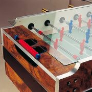 Garlando Coperto Münzprüfer-Fußballtisch mit Teleskopstangen, mit LED-Beleuchtung
