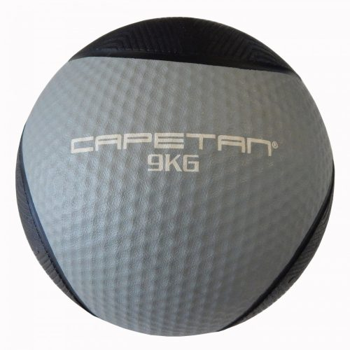 Capetan® Professional Line 9 kg springender Medizinball aus Gummi (auf Wasser schwimmend)
