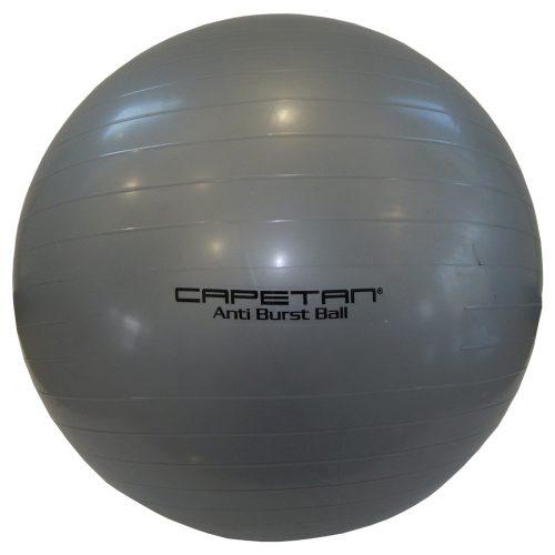 Capetan® Classic 75 cm Durchm. Gymnastikball in silberner Farbe – Fitnessball