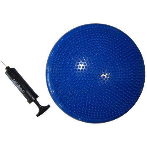 Capetan® Sitter 33x7 cm dynamisches Sitzkissen in blauer Farbe (mit Handluftpumpe) – Dyn-Air Ballkissen