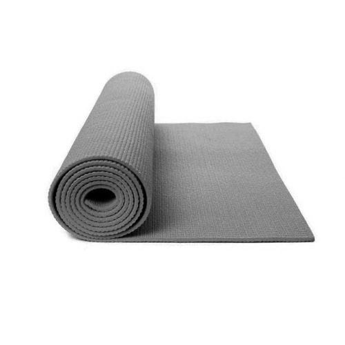 Capetan® PVC Jogamatte 173 x 61 x 0,4 cm in grauer Farbe – Fitnessmatte