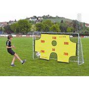 Metall-Fußballtor mit Torwand und Netz – 2,9 x 1,65 x 0,9 m großes Tor, aus 2,45 cm Durchmesser Rohrelementen zusammenstellbar, leicht transportabel