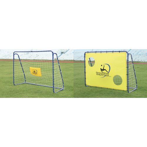 """Fußballtor mit Torwand – ein Stück """"Target"""" mobiles Tor, 213 x 152 x 76 cm, Metall, aus 3,8 cm Rohrelementen zusammenstellbar"""