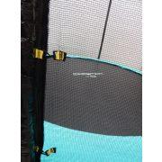 Capetan® Selector 305 cm Trampolin mit das Rahmengestell befestigenden T-Elementen zusätzlich verstärktem extra hohem Sicherheitsnetz – premium Gartentrampolin mit dicker Federabdeckung, mit einem Sprungtuch in 80 cm Höhe