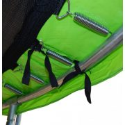 Capetan® 244 cm Durchm. limettengrüne PVC Trampolin Federabdeckung mit 20 mm dicker Polsterung, 26 cm breite Schutzrandabdeckung mit cca. 23-24 cm breite innerer Polsterung