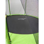 Capetan® Selector Lime 305 cm Trampolin mit 180 kg Belastbarkeit, mit langen Netzstangen, mit befestigenden T-Elementen zusätzlich verstärktes Rahmengestell, mit extra hohem Sicherheitsnetz – premium Gartentrampolin mit dicker Federabdeckung, mit ei
