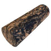 Capetan® 15x45 cm SMR Massagerolle extra harten Materials in orangen-schwarzer Farbe mit ebener Oberfläche