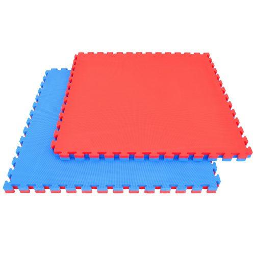 Capetan® Floor Line 100x100x4 cm rot-blaue Puzzle-Tatamimatte in einer Ausführung mit 100 kg/m3 hoher Dichte