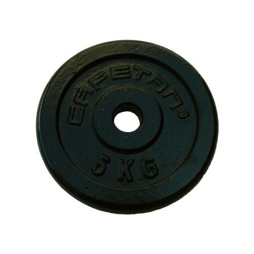 Capetan® 5 kg Hantelscheibe aus Stahl mit Hammerschlaglackierung, mit 31 mm Lochdurchmesser
