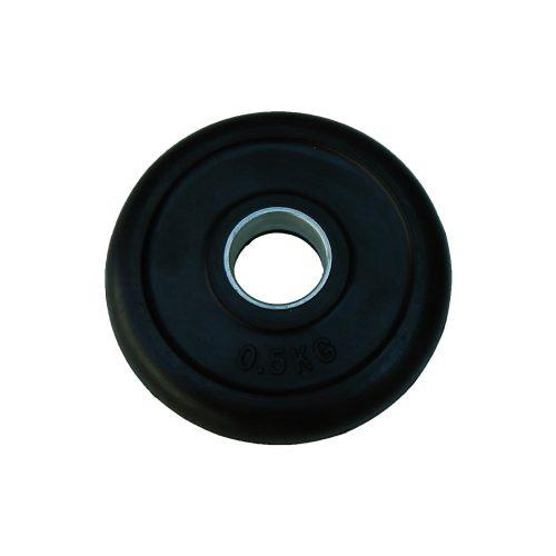 Capetan® 0,5 kg gummierte standardmäßige Hantelscheibe von 31 mm Durchm. mit einem Stahlring in der Mitte