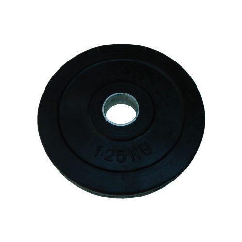 Capetan® 1,25 kg gummierte standardmäßige Hantelscheibe von 31 mm Durchm. mit einem Stahlring in der Mitte
