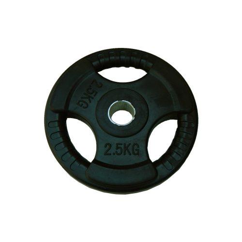 Capetan® Tri Grip gummierte ergonomische 2,5 kg Hantelscheibe mit 31 mm Lochdurchmesser