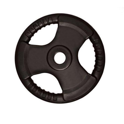 Capetan® Tri Grip gummierte ergonomische 10 kg Hantelscheibe mit 31 mm Lochdurchmesser