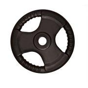 Capetan® Tri Grip gummierte ergonomische 15 kg Hantelscheibe mit 31 mm Lochdurchmesser