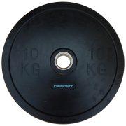 """Capetan® Professional Line Olympische 10 kg """"Bumper"""" Hantelscheibe aus Gummi mit 51 mm Lochdurchmesser"""