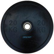 """Capetan® Professional Line Olympische 20 kg """"Bumper"""" Hantelscheibe aus Gummi mit 51 mm Lochdurchmesser"""