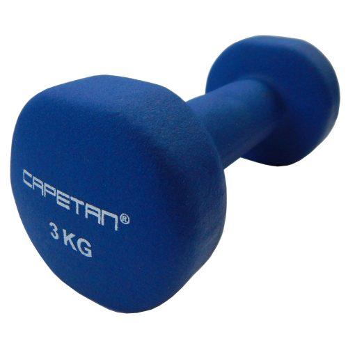 Capetan® 2x3 kg ein Paar Einhandhanteln mit Neoprenüberzug – Neoprenhanteln