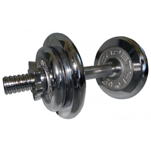 Capetan® erweiterbares Einhandhantelset aus verchromtem Stahl, insg. 10 kg