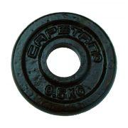 Capetan® 0,5 kg Hantelscheibe aus Stahl mit Hammerschlaglackierung, mit 31 mm Lochdurchmesser