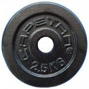 Capetan® 2,5 kg 31 mm Durchm. Hantelscheibe aus Stahl mit schwarz-seidenem Bezug